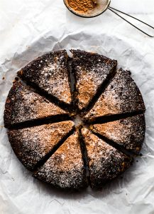 Chocolate Christmas Cake {Vegan, Paleo}