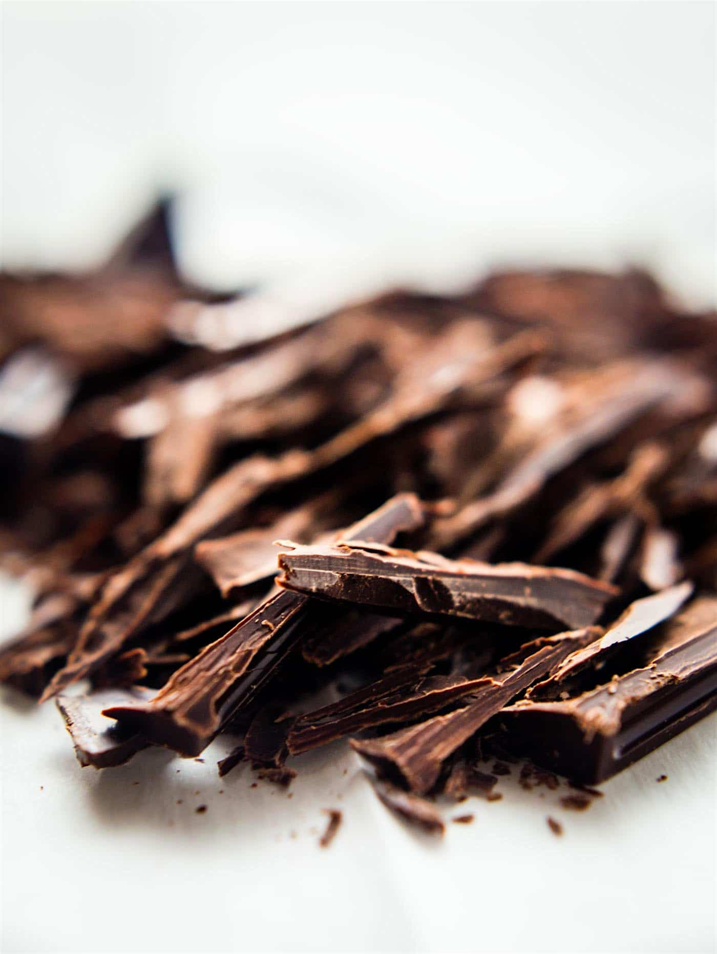 shavings of dark chocolate