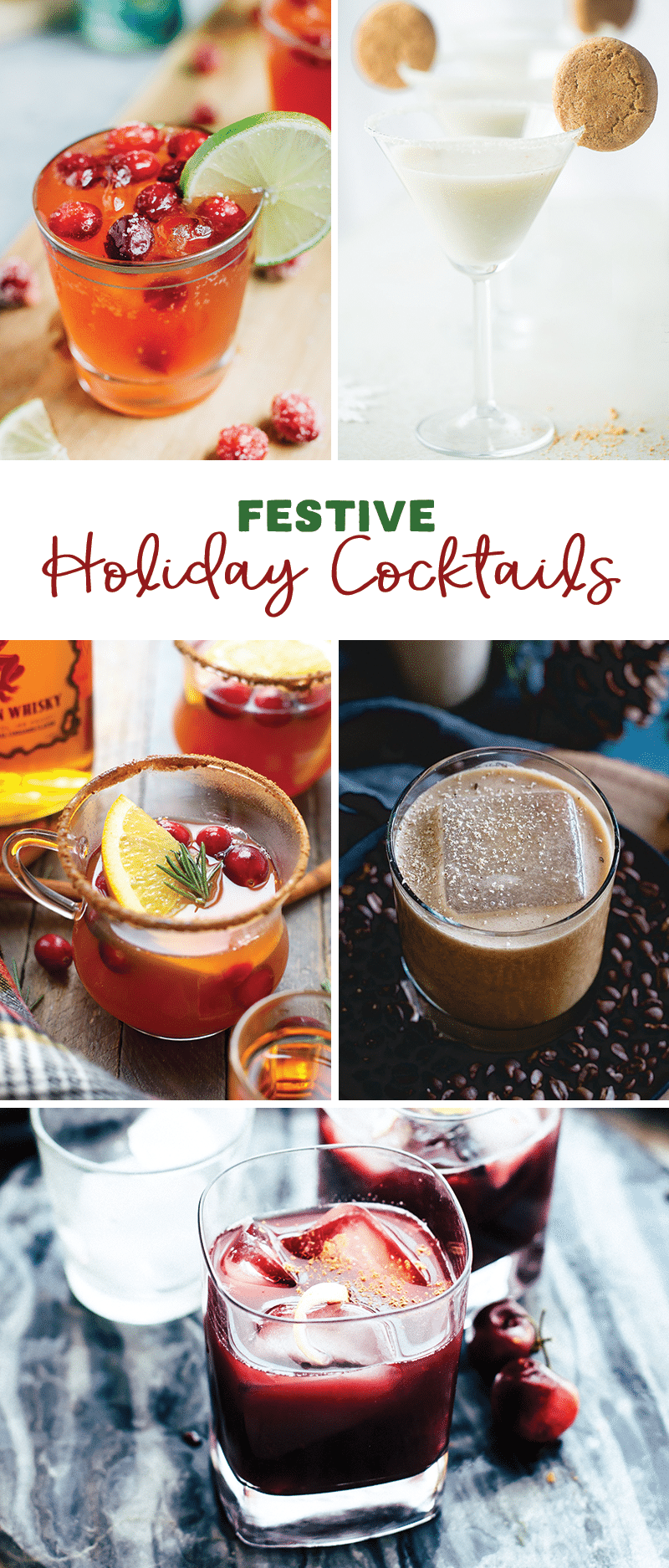 5 Holiday Festive Cocktails that are healthier and fun!