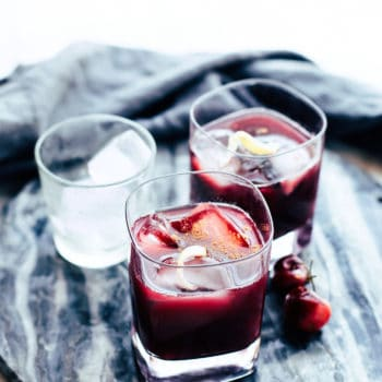 holiday cocktails made with red wine and bourbon