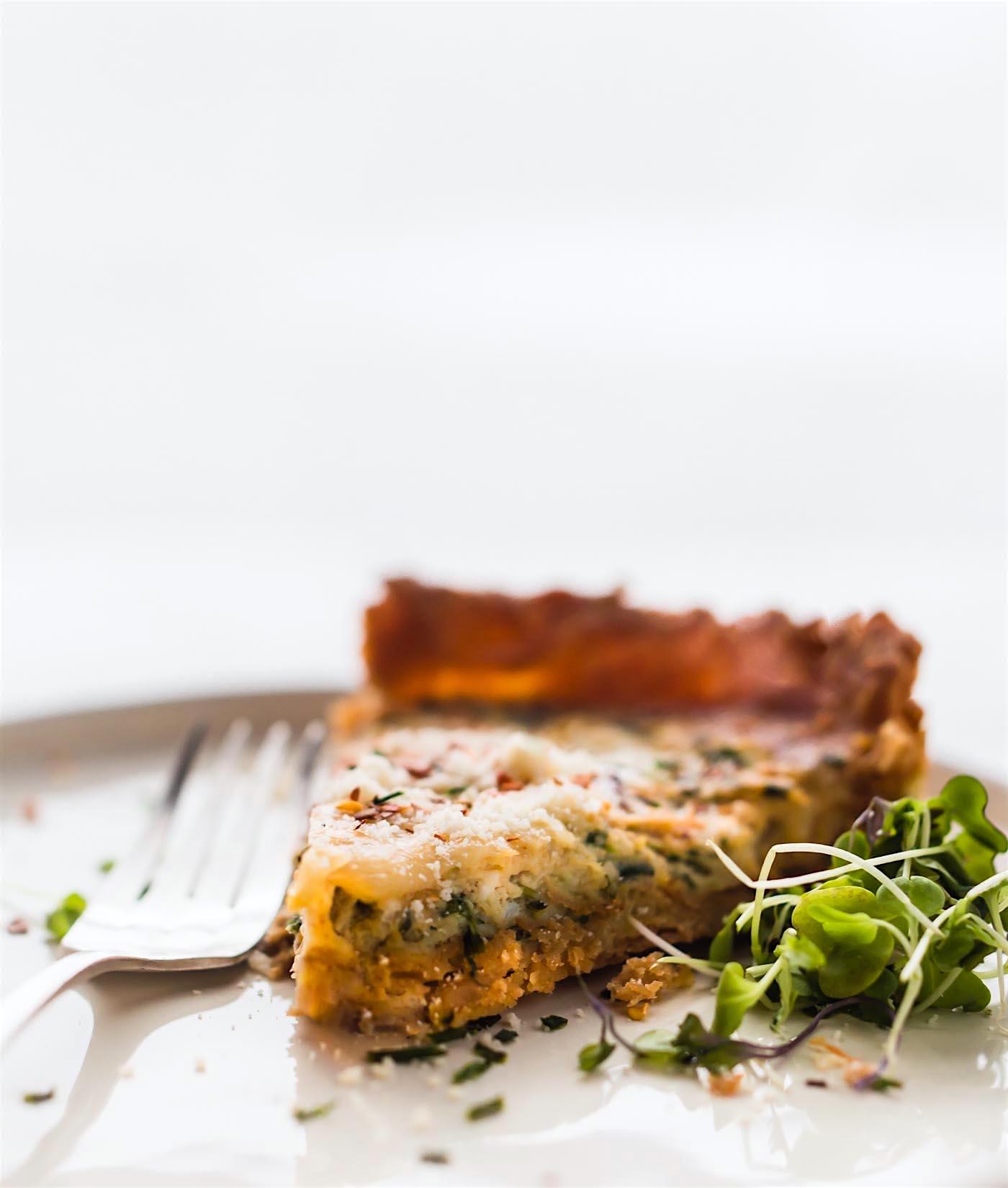 a slice of the best gluten free quiche