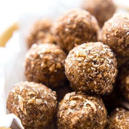Toasted Coconut Bliss Bites