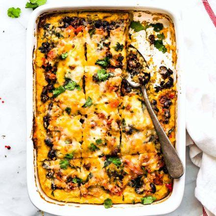 black bean polenta casserole