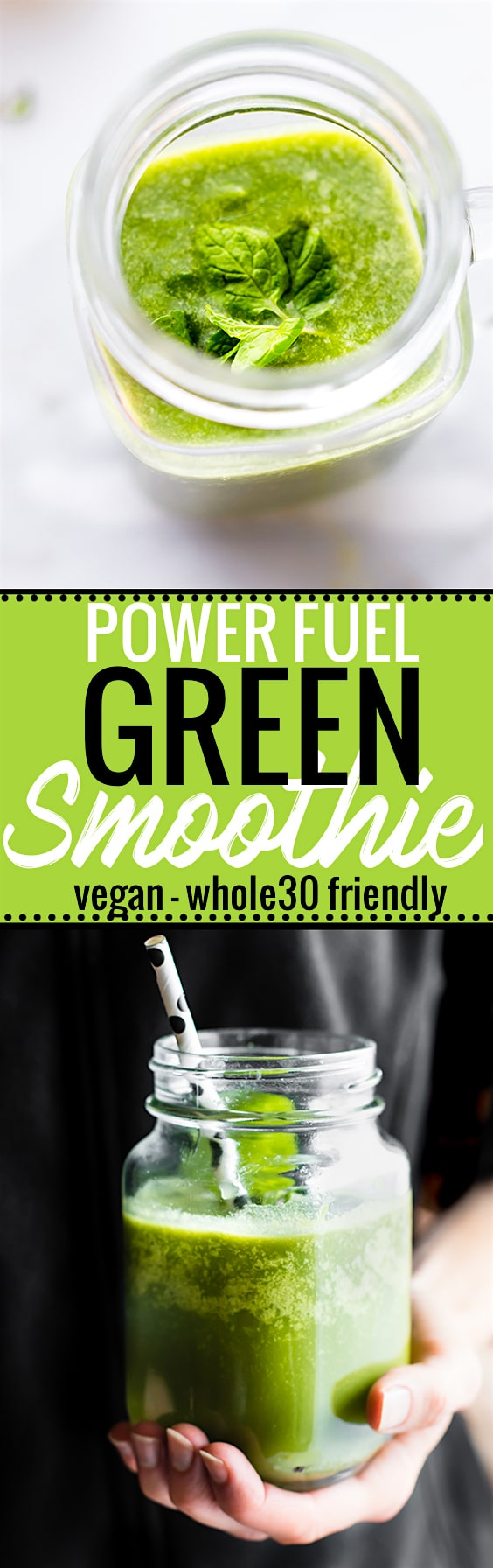 A POWER FUEL Green Smoothie to kick start the day. Jammed packed with super food nutrients that work in synergy to BOOST energy!. Easy (easier) to digest. Paleo, vegan, and whole 30 friendly. www.cottercrunch.com @cottercrunch