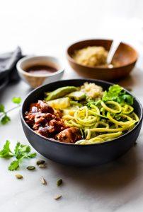 Honey BBQ Baked Salmon Bowls {Meal Prep Recipe}