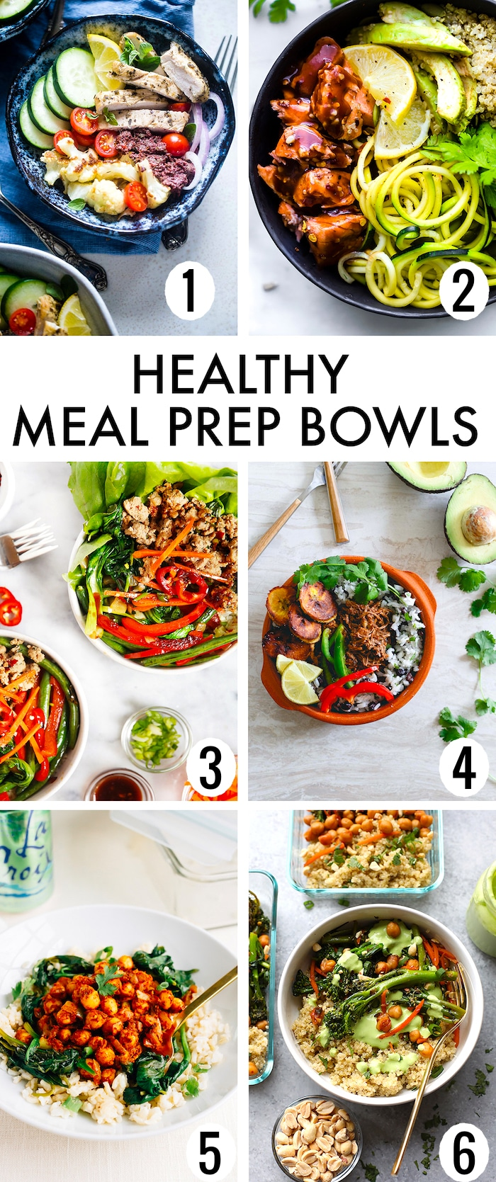 Gluten Free Healthy Meal Prep Bowls Recipes