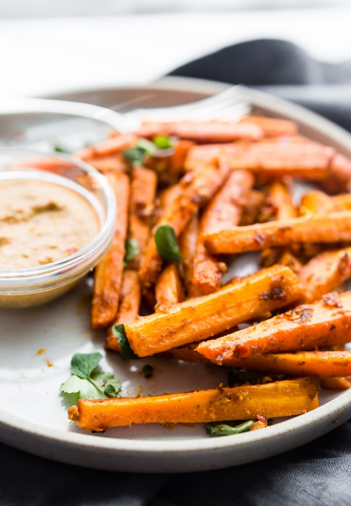 Peri Peri Oven Baked Carrot Fries