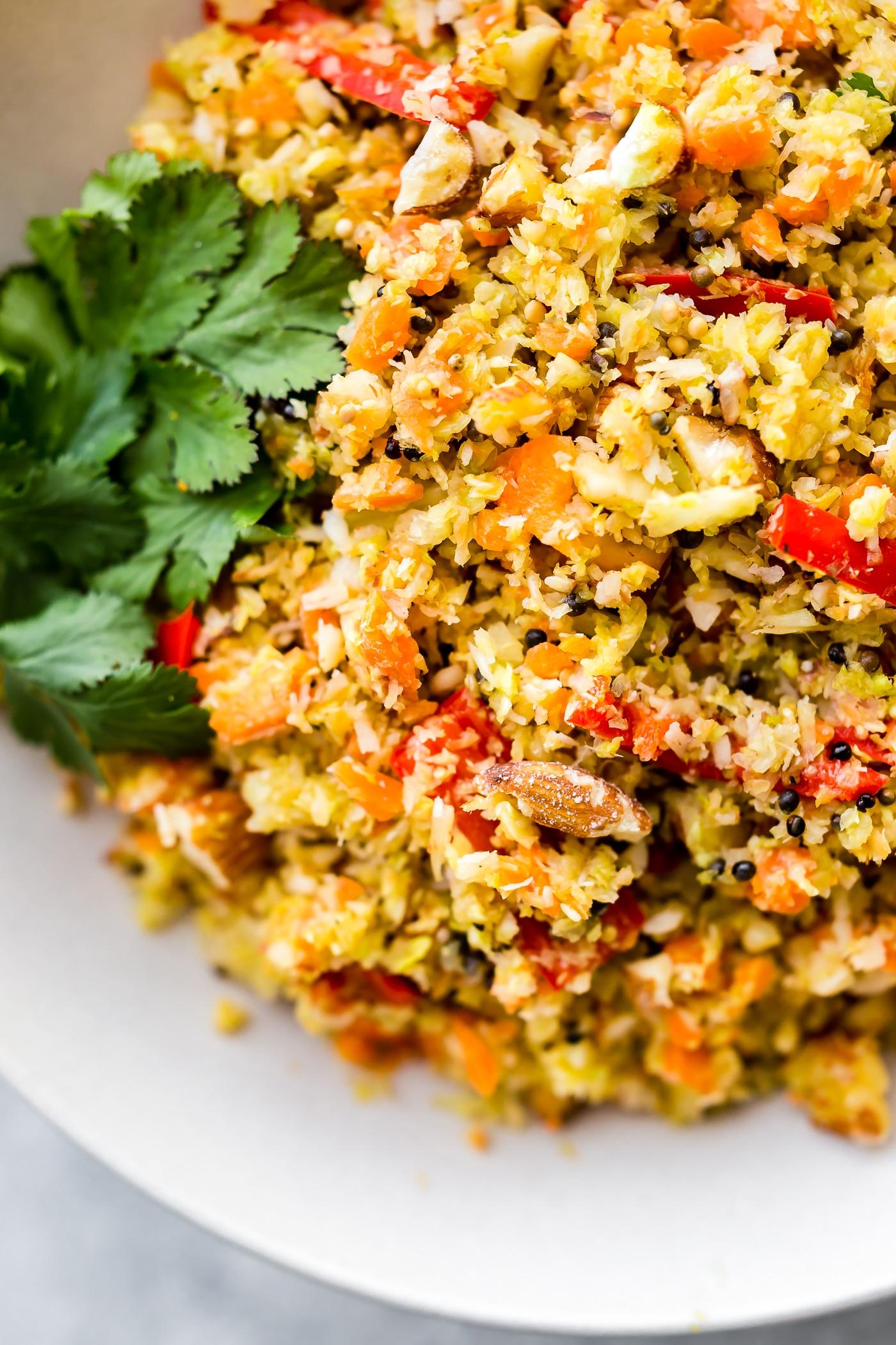 Gujarati Style Coconut Almond Warm Cabbage Salad {Vegan ...