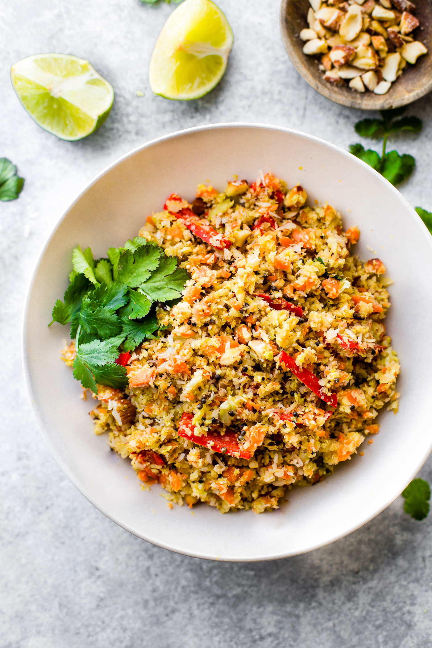 Gujarati Style Coconut Almond Warm Cabbage Salad