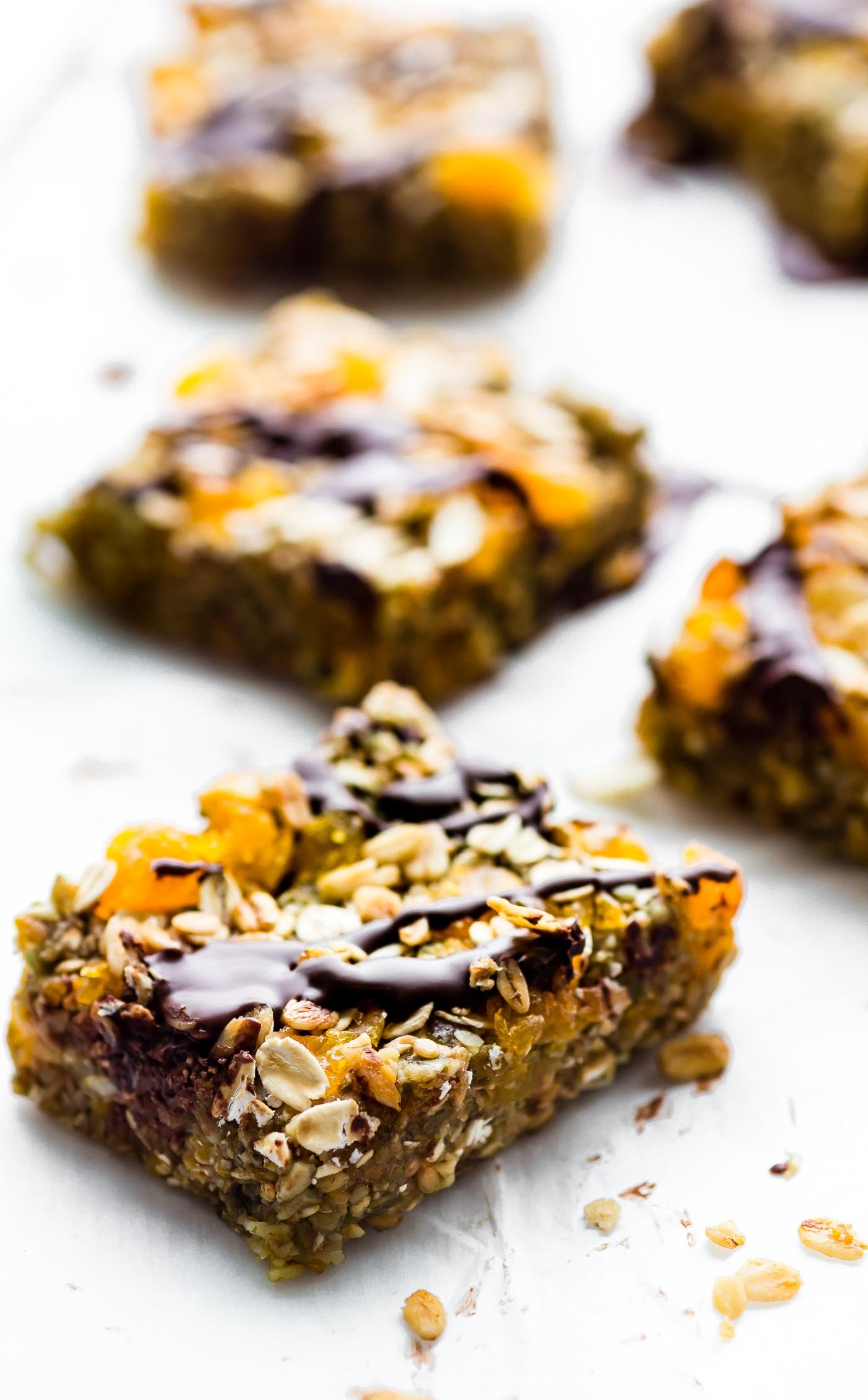 No Bake Apricot Oat Protein Bars Nut Free Vegan Video