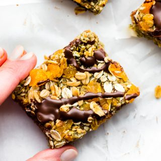 No Bake Apricot Oat Protein Bars