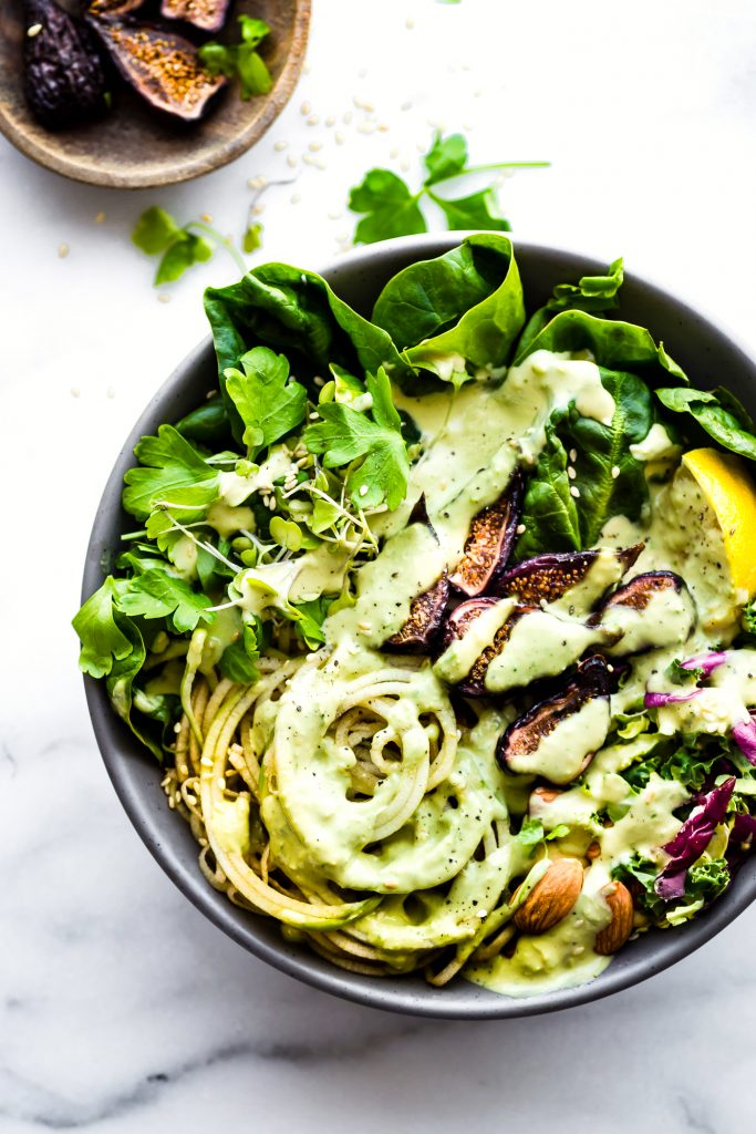 Green Goddess Fig Nourish Bowl Salad