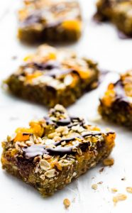 nut free and dairy free apricot oat protein bars
