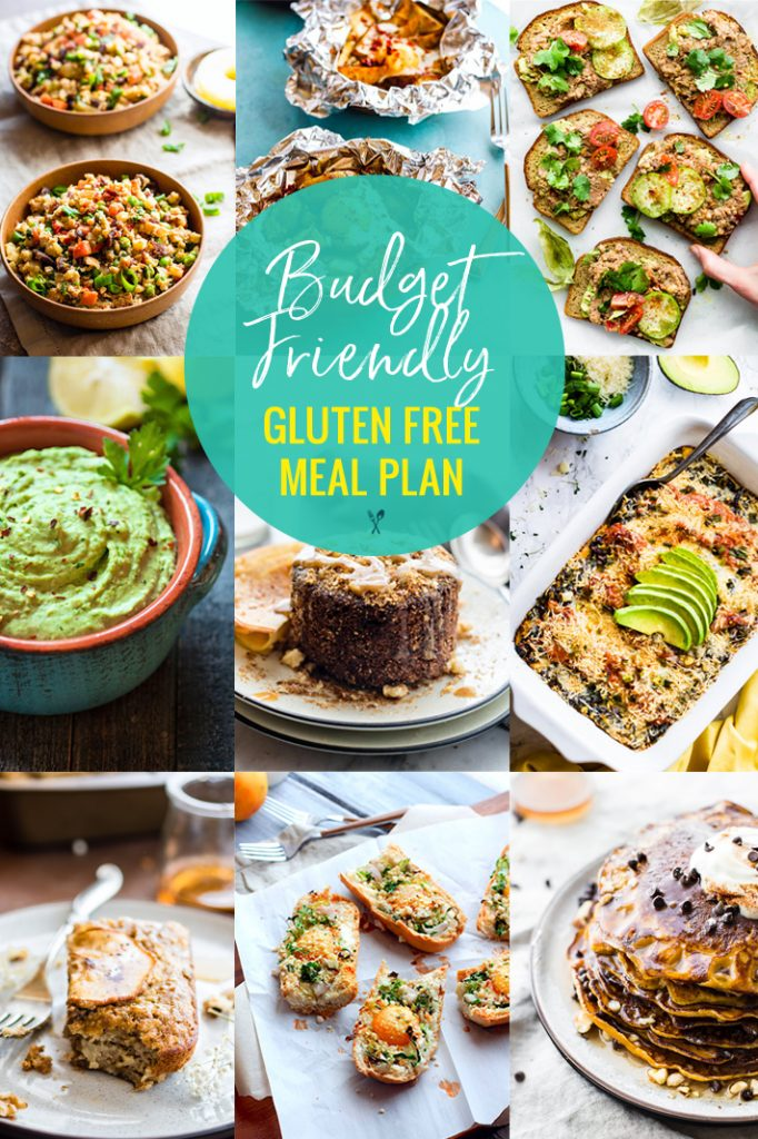 This budget friendly gluten free meal plan will show you how to create delicious and healthy gluten free meals, without spending a fortune on the ingredients. | CotterCrunch.com