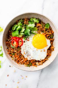 Quick Carrot Rice Breakfast Nasi Goreng {Paleo}