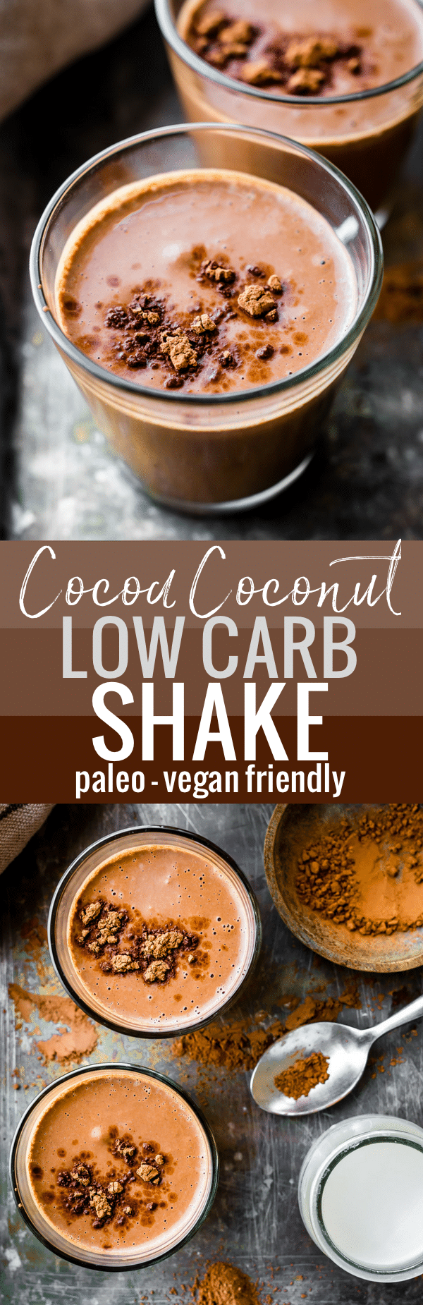 This low carb shake recipe, full of healthy coconut cream and unsweetened chocolate cocoa, will fuel your body for the day! The health benefits of this delicious vegan friendly, paleo shake recipe will keep you energized and nourished. WWW.COTTERCRUNCH.COM