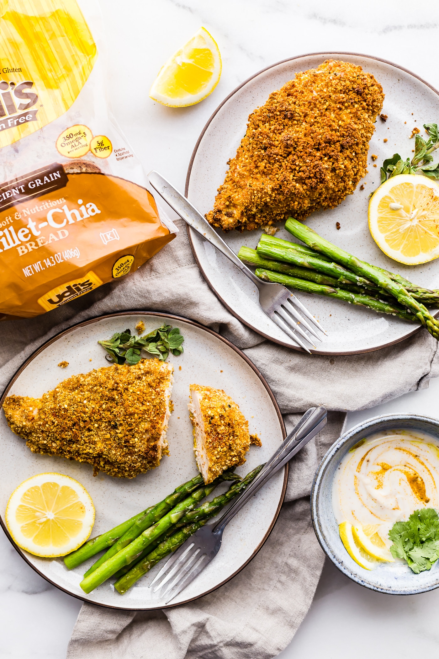A Crowd pleasing #GlutenFree Recipe! Gluten Free Panko Crusted Paprika Chicken with veggies! @udisglutenfree #sp #udisglutenfree