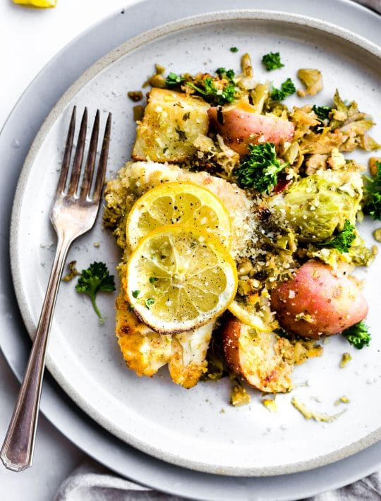 Honey Mustard Baked Fish with Vegetables