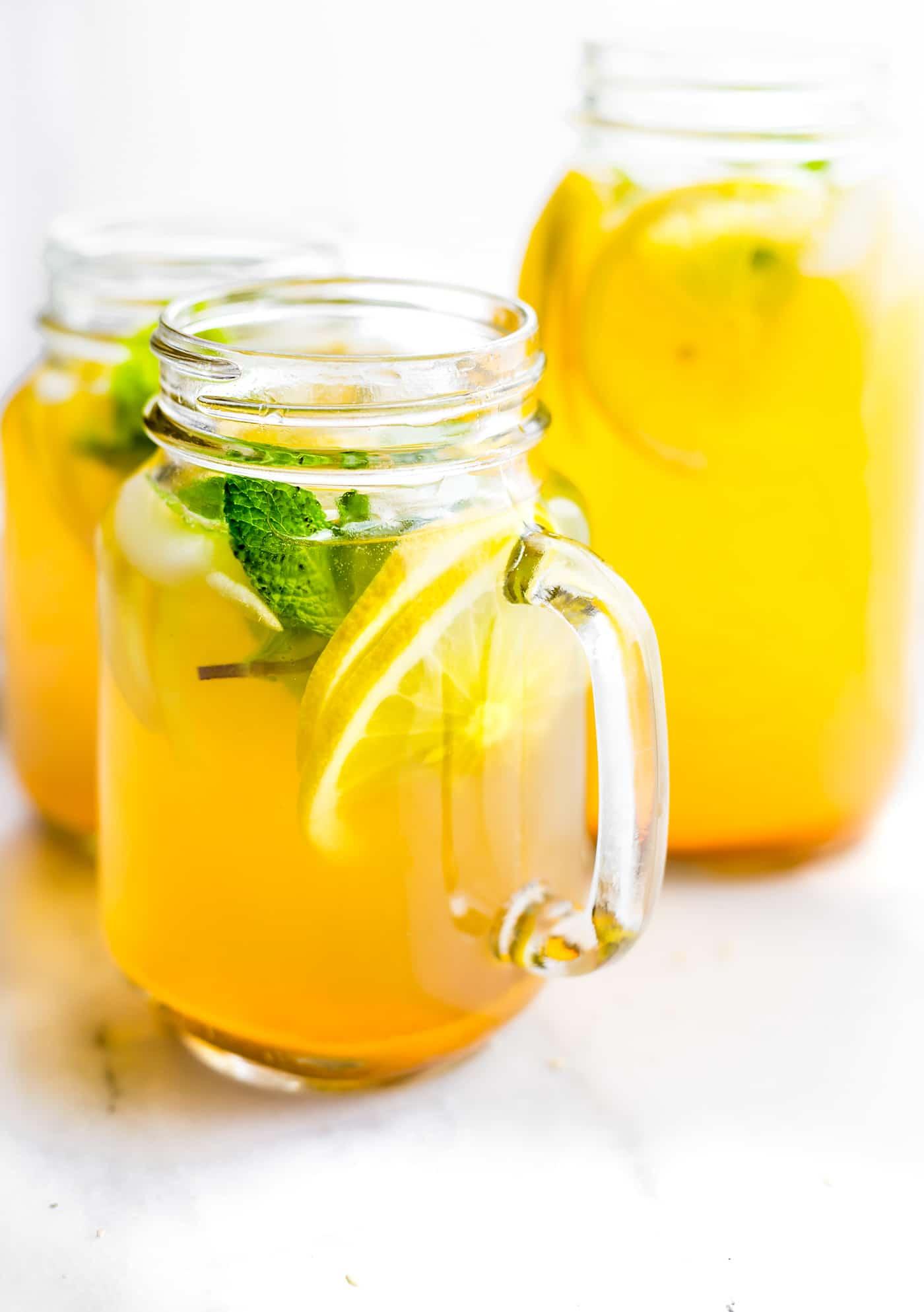 Turmeric Ginger Lemonade with Mint