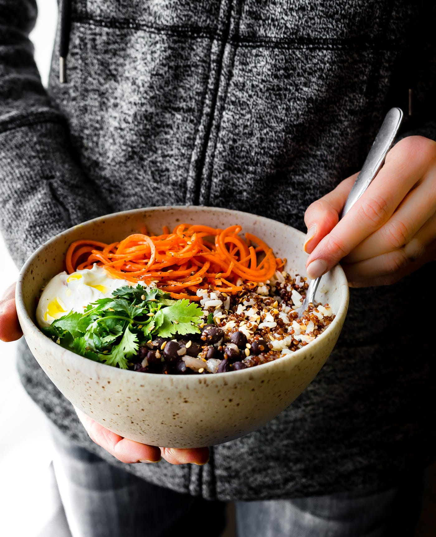"Gluten free Balance Bowls! No matter what you call these plant powered ""balance bowls""— Power bowls, buddha bowls, Macro Bowls, Quinoa Bowls, etc. They truly are easy to make! A healthy meal prep bowl packed full of balanced macronutrients, vitamins, minerals, and more!"