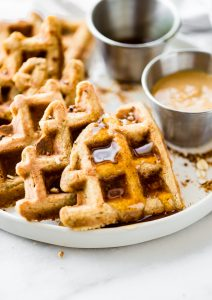 Flourless Peanut Butter Waffles {Protein Rich}