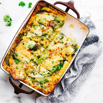 Roasted Hatch Green Chile Egg Casserole