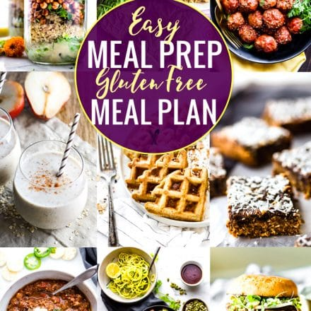 These easy meal prep recipes are perfect for a gluten free meal plan. By prepping ahead, you can prepare healthy gluten-free meals easily, without a hassle! Use these healthy and easy meal prep recipes to have breakfast, lunch, dinner, and snacks or desserts ready to go when you are!