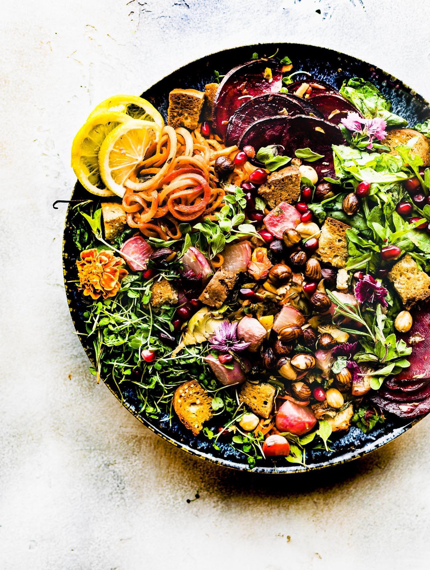 Roasted Vegetable Panzanella Fall Salad