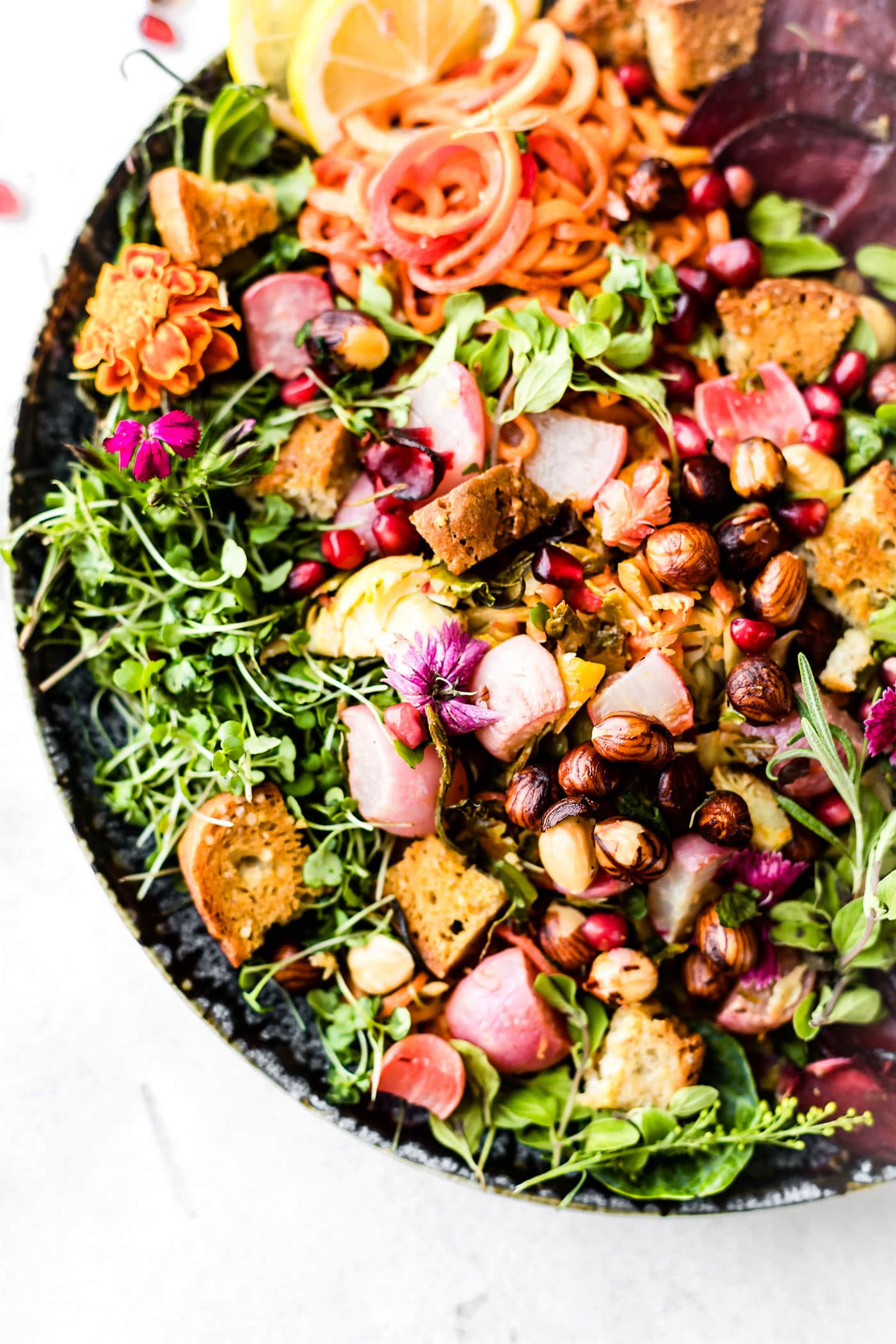 ROASTED VEGETABLE PANZANELLA FALL SALAD. An Autumn inspired dish to make the most of those seasonal vegetables. Nourishing, gluten free, deliciously dairy free, simple to make!
