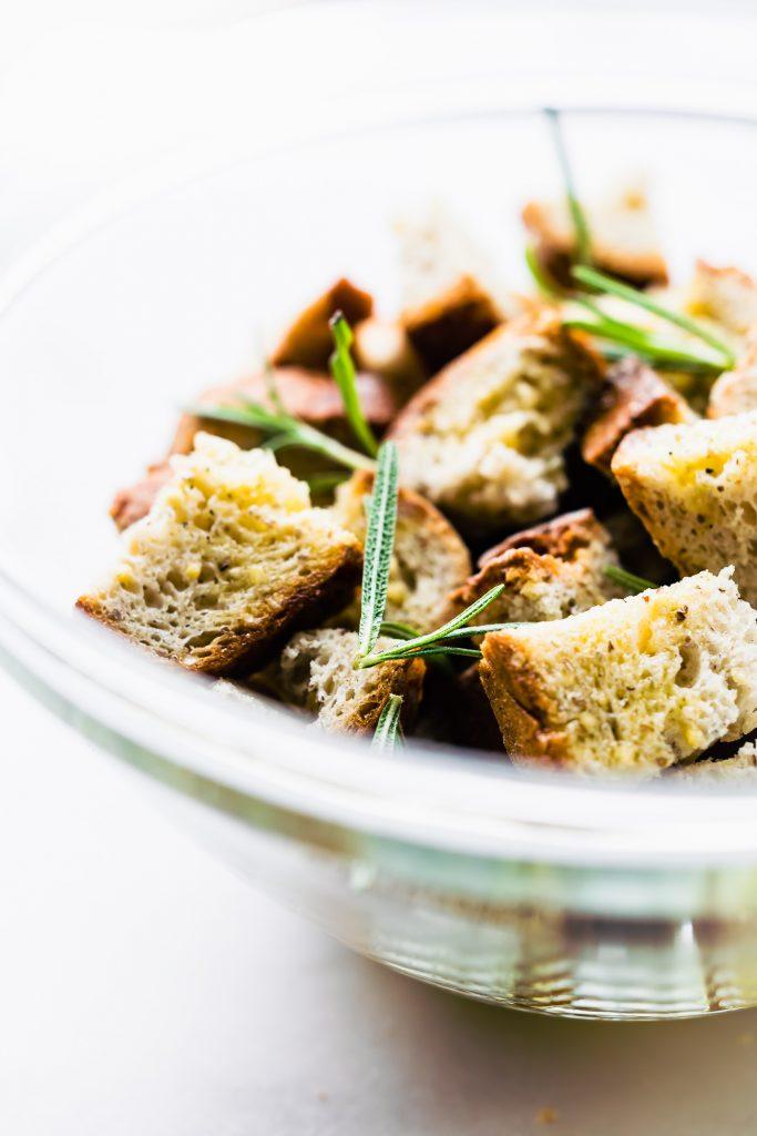 Fall Panzanella Salad with Udis Gluten Free Bread