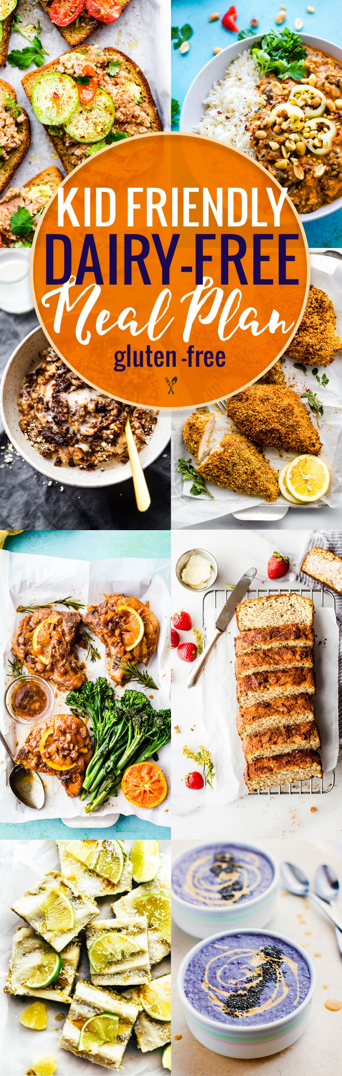 This kid friendly dairy-free meal plan is full of delicious back to school recipes that kids love! All of these kid friendly recipes are healthy, gluten free AND dairy free, making life a little less stressful for parents of kids who have food allergies. www.cottercrunch.com