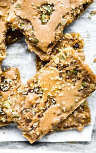 dairy free and nut free maple sesame quinoa bars