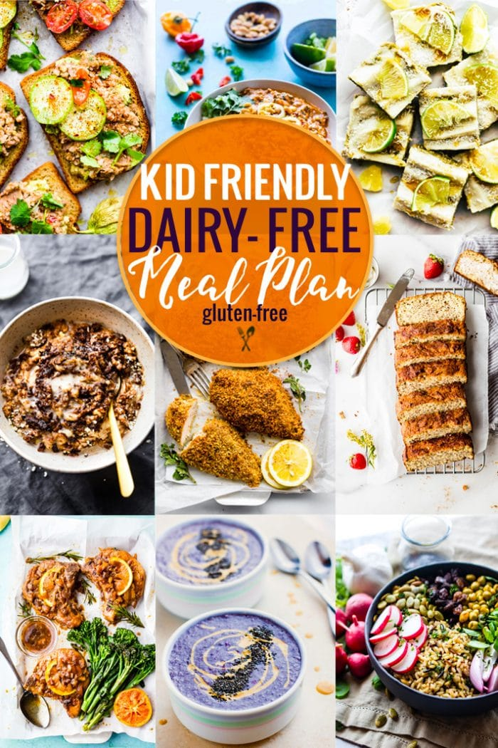 c9c3b4e55105 Kid Friendly Dairy-Free Meal Plan | Cotter Crunch - Gluten-Free Recipes