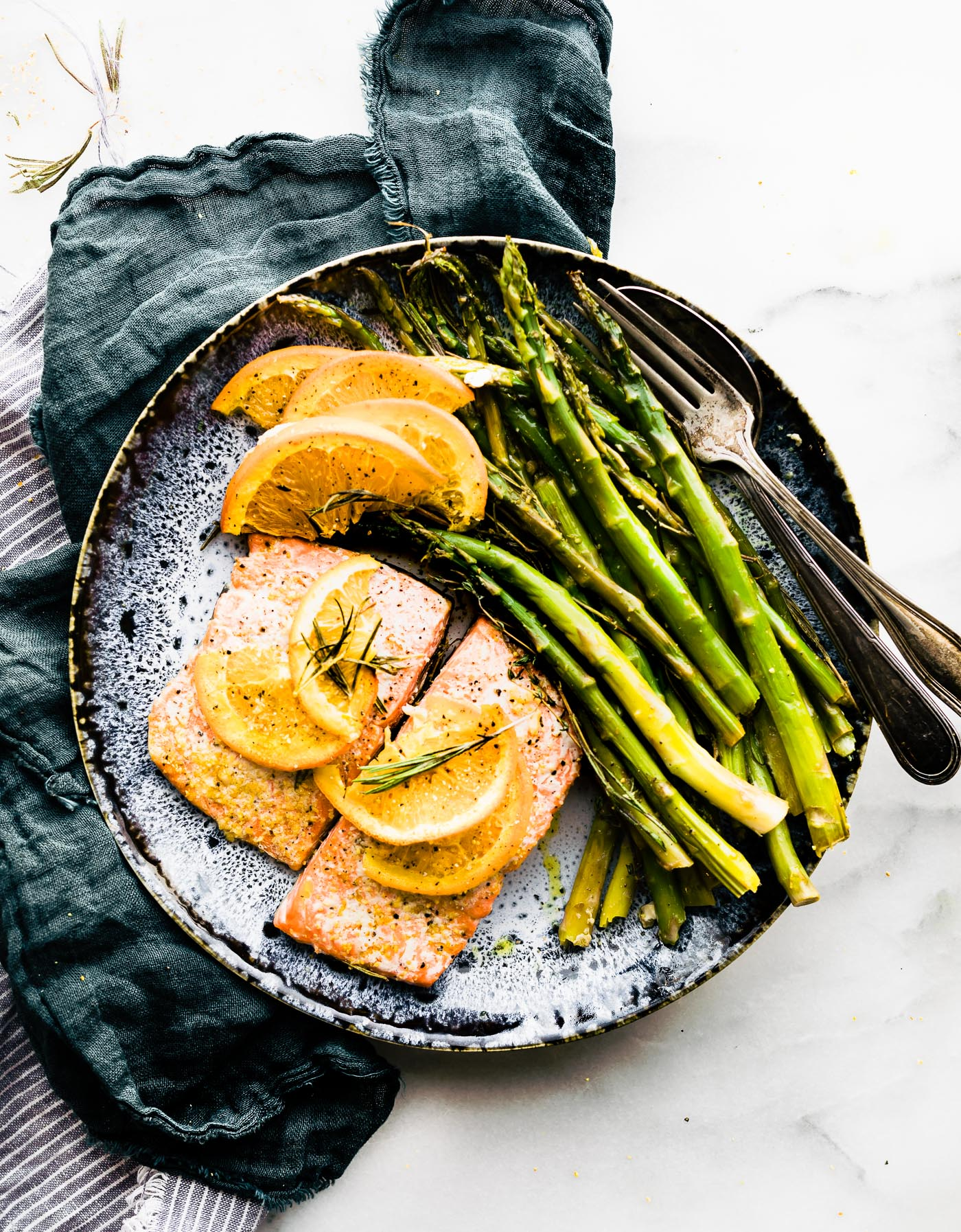 Rosemary Citrus One Pan Baked Salmon