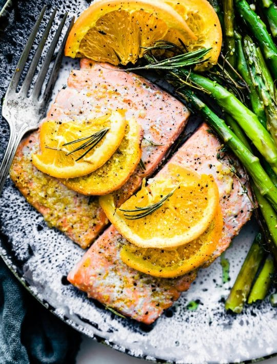 rosemary citrus one-pan baked salmon