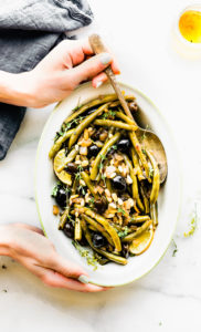 Balsamic Olive-Oil Braised Green Beans