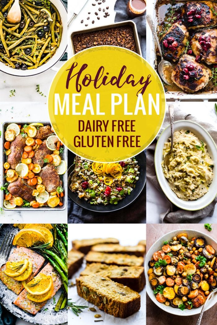 Gluten Free Dairy Free Holiday Meal Plan