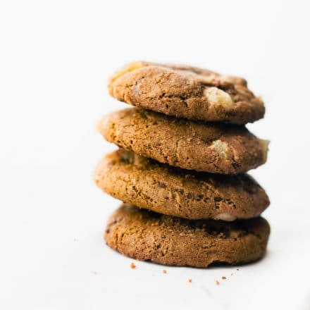 stack of flourless molasses cookies