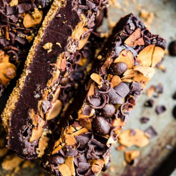 homemade vegan fudge with almonds and chocolate chips