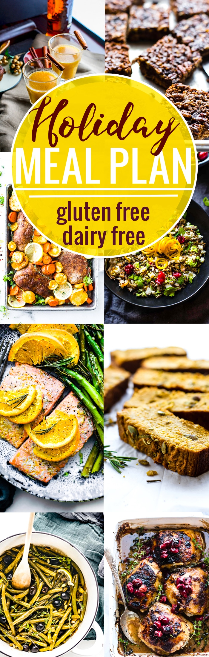 EATING well for the Thanksgiving and Christmas holidays just got a whole lot easier! New GLUTEN FREE AND DAIRY FREE HOLIDAY MEAL PLAN to help plan a menu of delicious and healthy holiday meals. www.cottercrunch.com #holidayrecipes #mealplan #glutenfree
