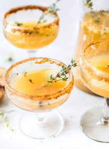 Honey Roasted Pear Sparkling Cocktails