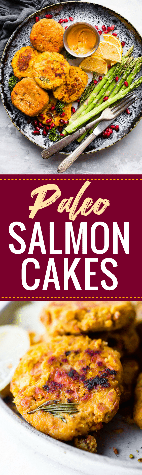 Paleo Salmon Cakes are quick, easy to make, delicious meal or appetizer! These Salmon cakes are literally veggie packed and protein packed, not to mention whole30 friendly.  #paleo #mealprep #healthy #appetizer #whole30
