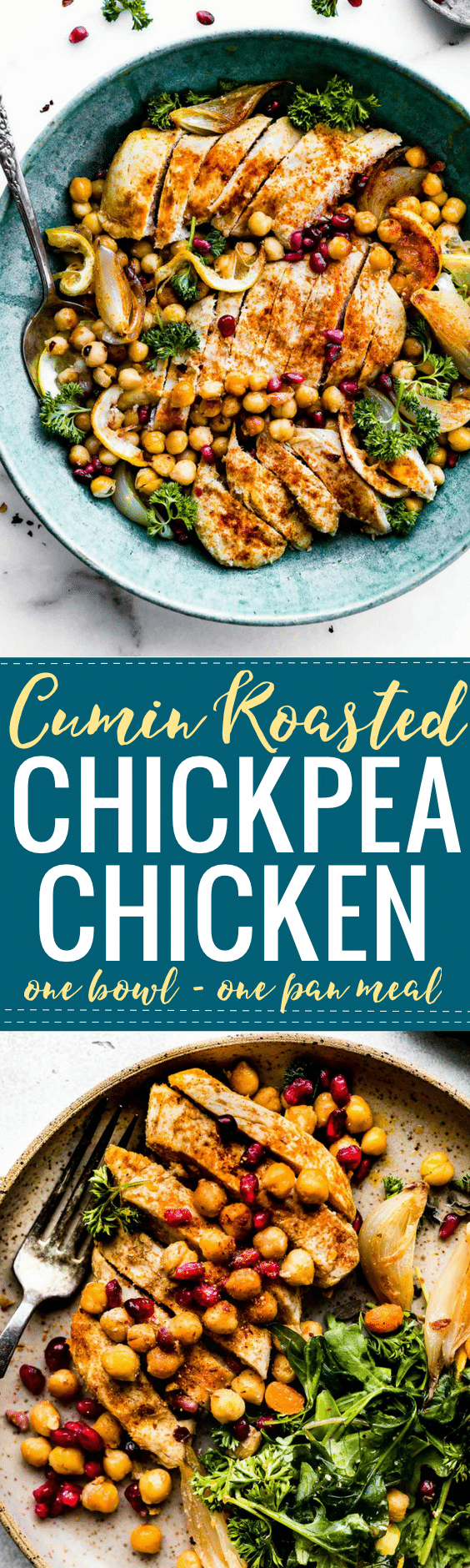 Cumin Roasted Chickpea Chicken Bowls Recipe | Cotter Crunch