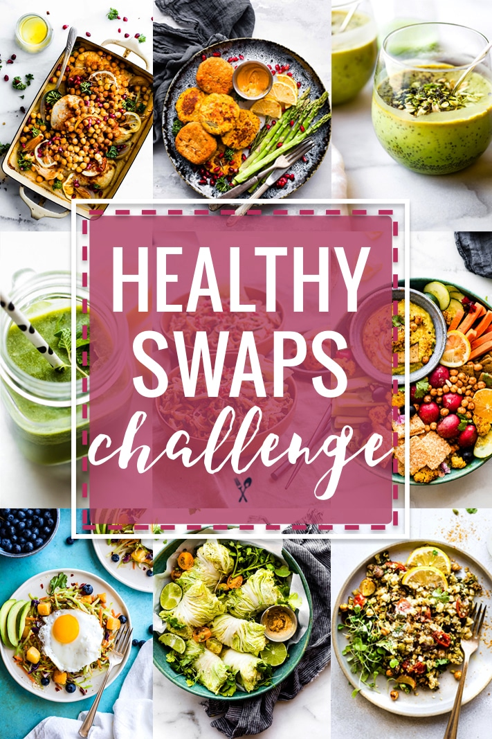 Healthy swaps gluten free meal plan and challenge! Lots of options for dairy free and paleo meals!. Veggie packed meals with simple ingredients that feed a family.