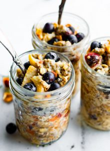 mason jars of Instant Pot Superfood Oatmeal