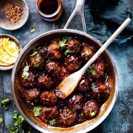 Saucy 5 Spice BBQ Meatballs {Paleo Friendly}