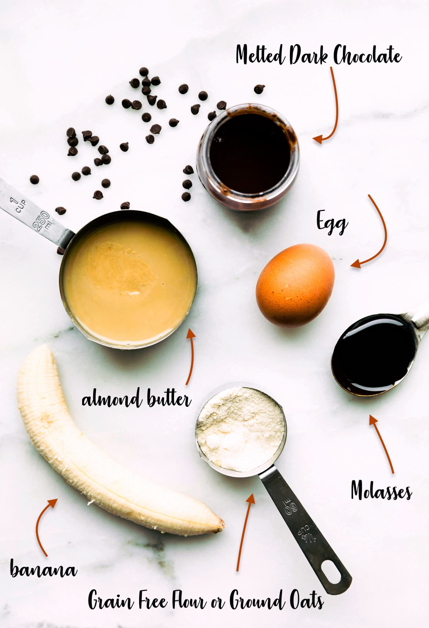 Ingredients to make breakfast cookies