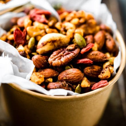 """Thai Curry Spiced Slow Cooker """"Superfood"""" Snack Mix"""