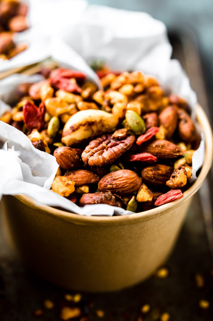 Thai Curry Spiced Slow Cooker Snack Mix {Paleo}
