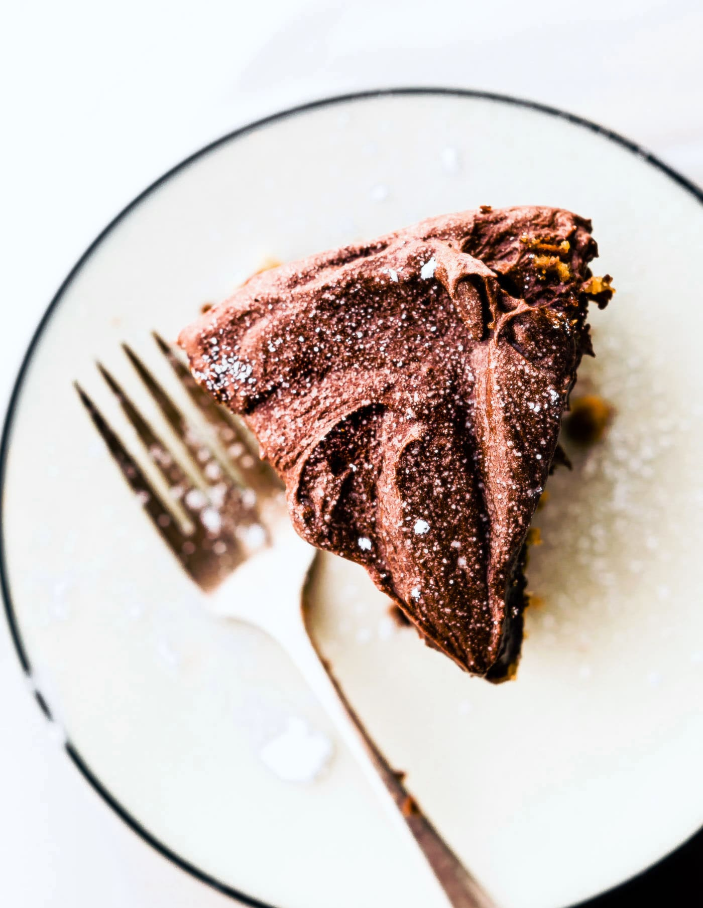 The best Vegan White Cake with Chocolate Coconut Frosting!